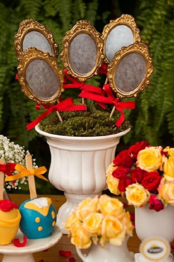 espelhos de chocolate para decoração festa branca de neve Foto Pinteres