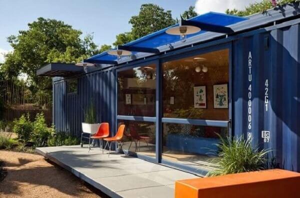 Casa-container-azul