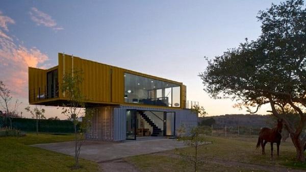 Casa-container-com-duas-cores