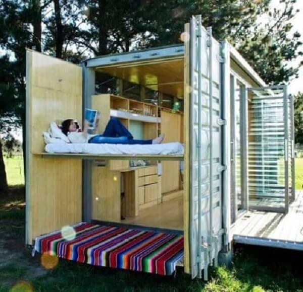 Casa container com espaço externo