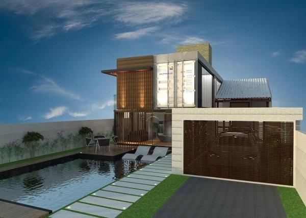 Casa container com garagem