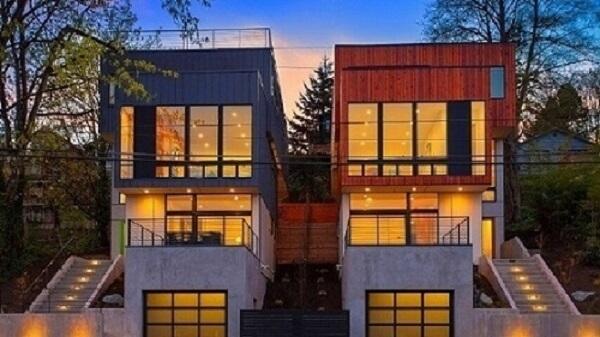 Casas containers vizinhas
