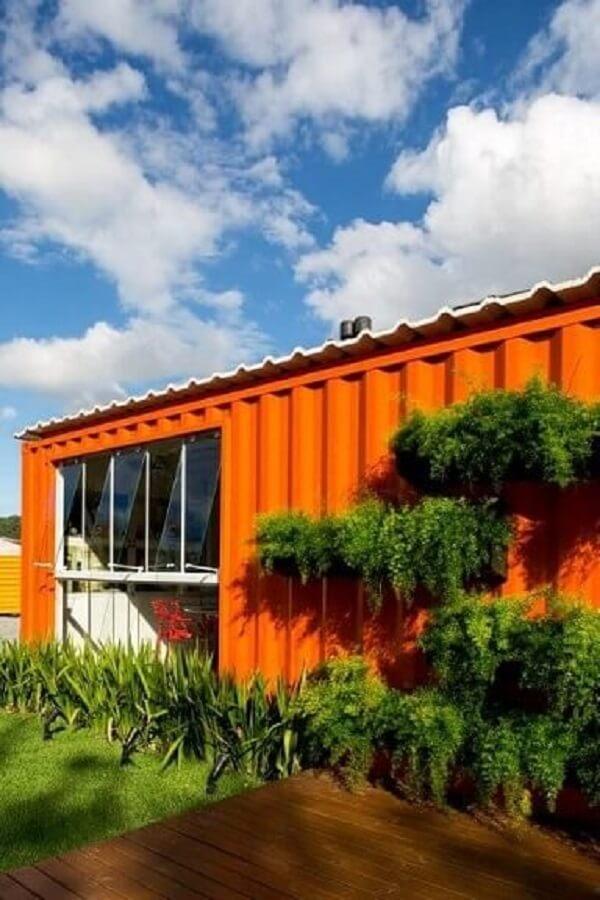 Casa container laranja. Projeto de Estúdio Arkit