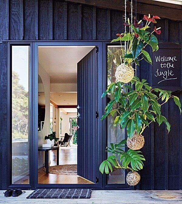 Decore a entrada da casa com a técnica de kokedama
