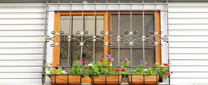 Grades para janelas com plantas
