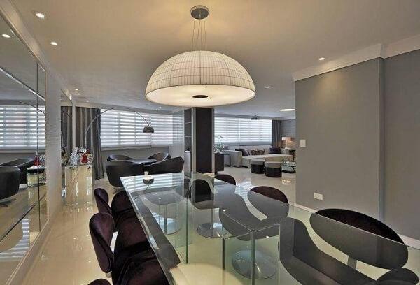 lustres para sala de jantar em formato de cúpula