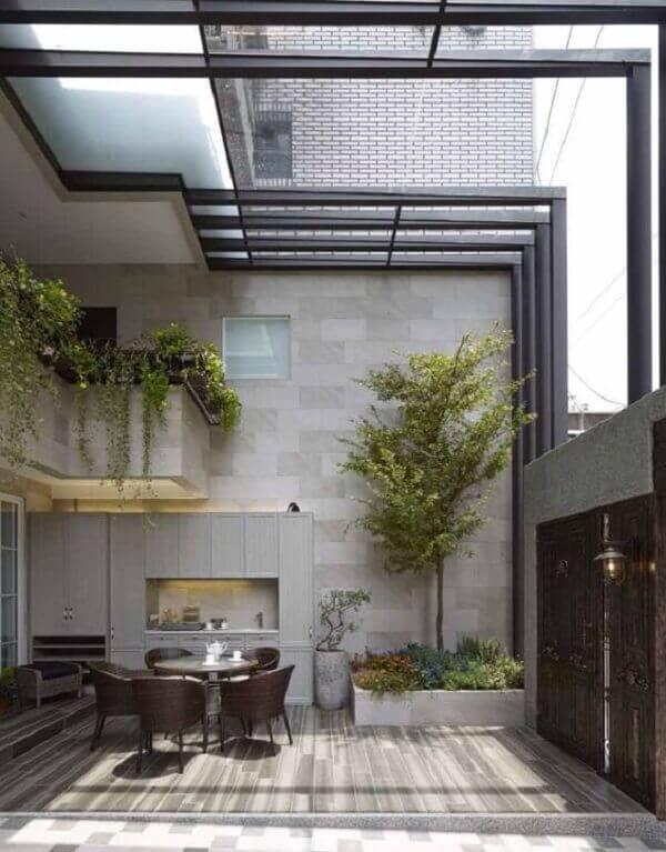 telhado feito de tipos de telhas de vidro