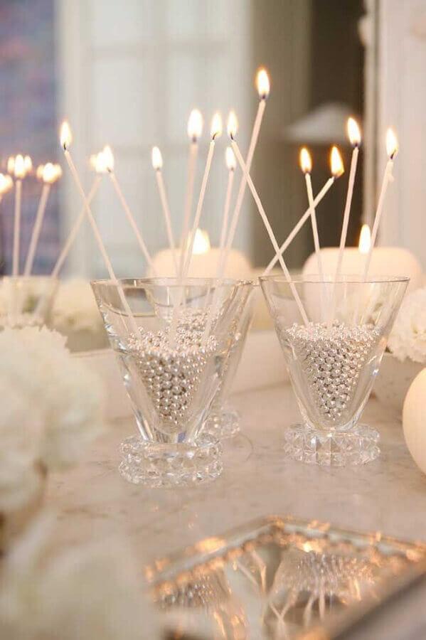 arranjos com pérolas para decoração bodas de pérola  Foto Marie-Paule Faure