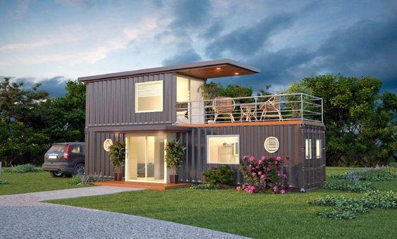 Casas feitas com container
