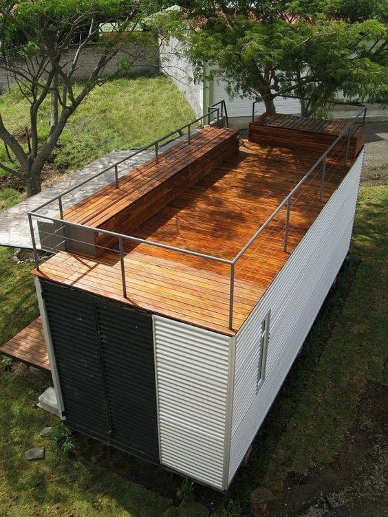 Casas feitas com container simples e aconchegantes- Foto: Wedecor