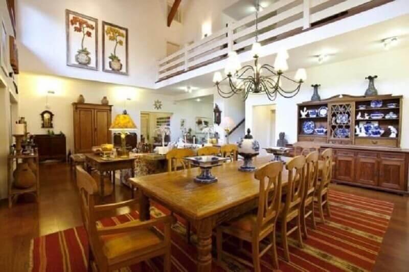 decoração clássica salas integradas com mezanino Foto Marcelo Bicudo