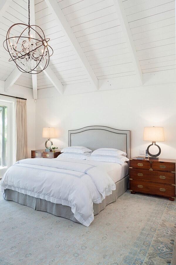 decoração com lustres para quarto com estilo clean