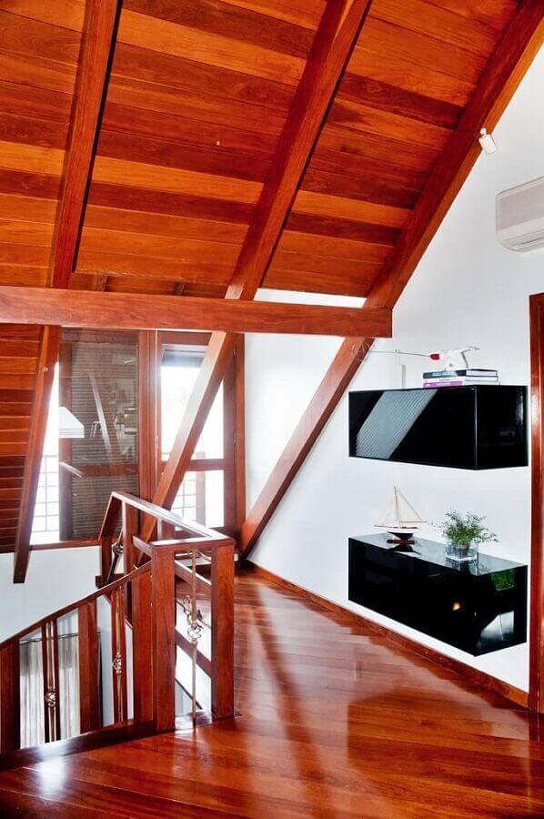 decoração com mezanino de madeira Foto Archdesign Studio