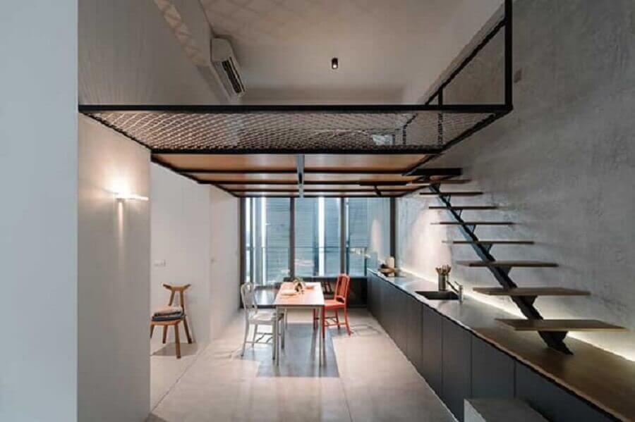decoração moderna para casa com mezanino Foto Neu dekoration stile