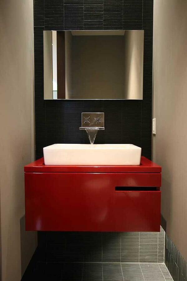 decoração moderna para lavabo cinza e vermelho Foto Air Freshener