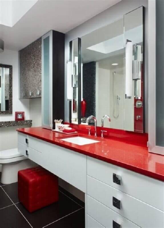 decoração para banheiro com bancada vermelha Foto Air Freshener