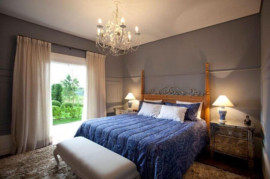 decoração provençal com lustres para quarto