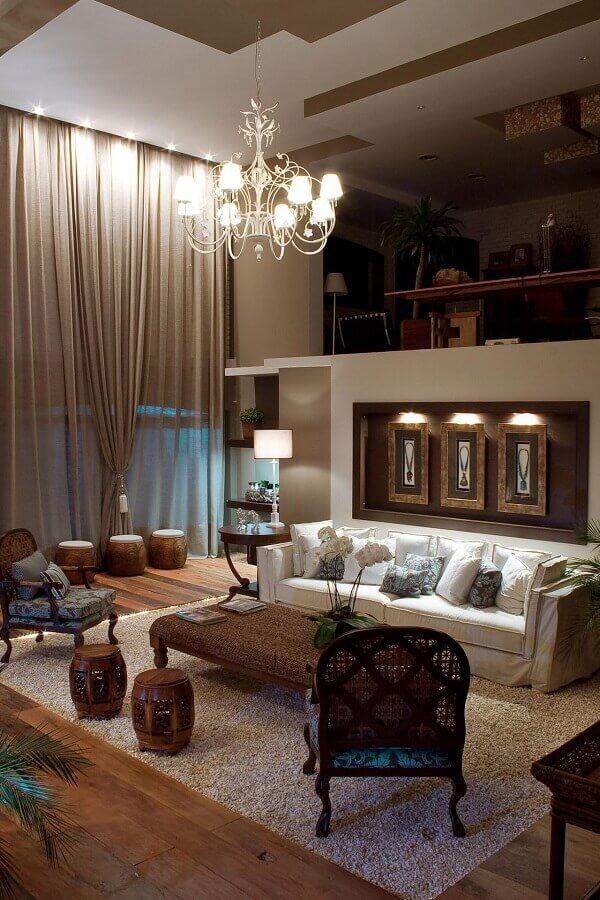 decoração sofisticada para casa com mezanino Foto Cissa Bonsi