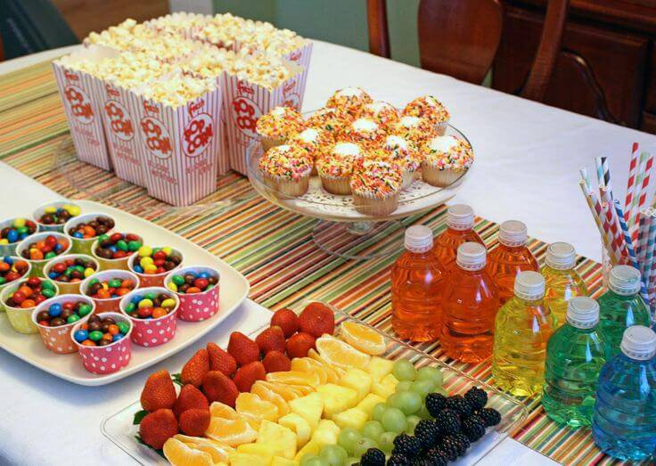 decoracao de festa infantil colorida frutas