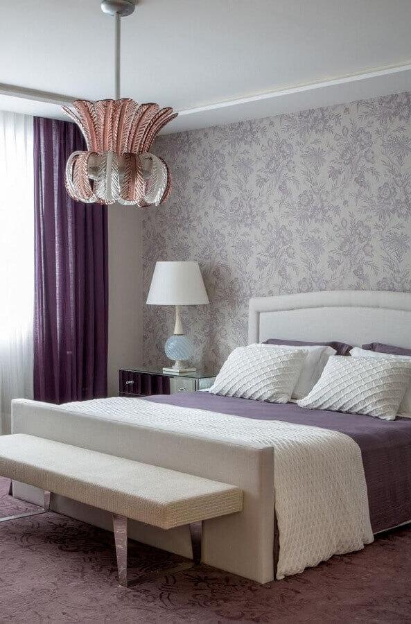 design diferente de lustre para quarto de casal decorado