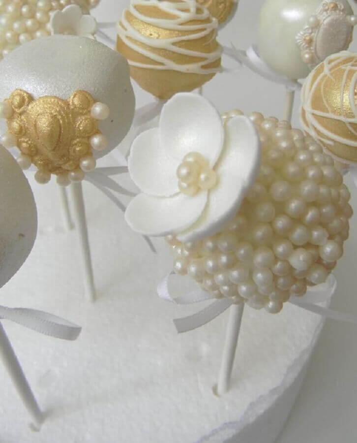 docinhos personalizados para bodas de pérola  Foto Pinterest