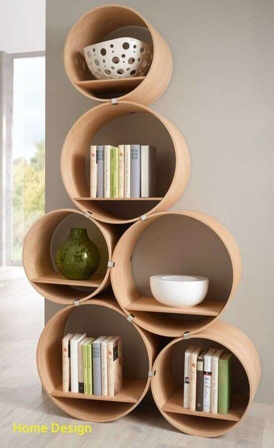 estante de nichos redondos Foto Home Design