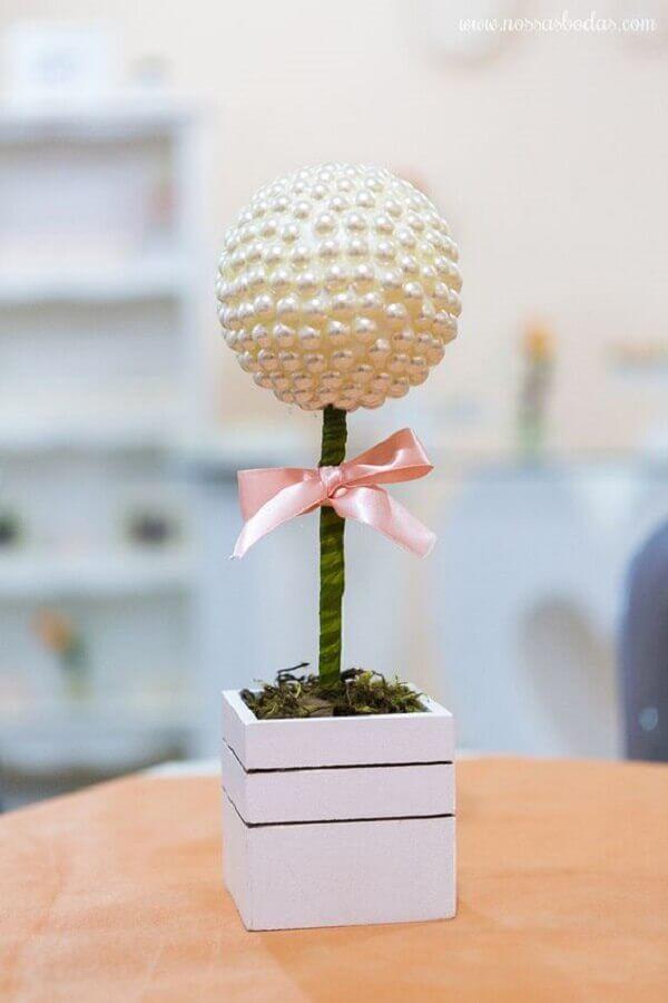 ideia de decoração simples para bodas de pérola  Foto Pinterest