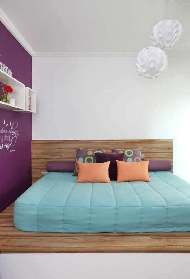 lustre para quarto com decoração moderna Foto Luciane Mota