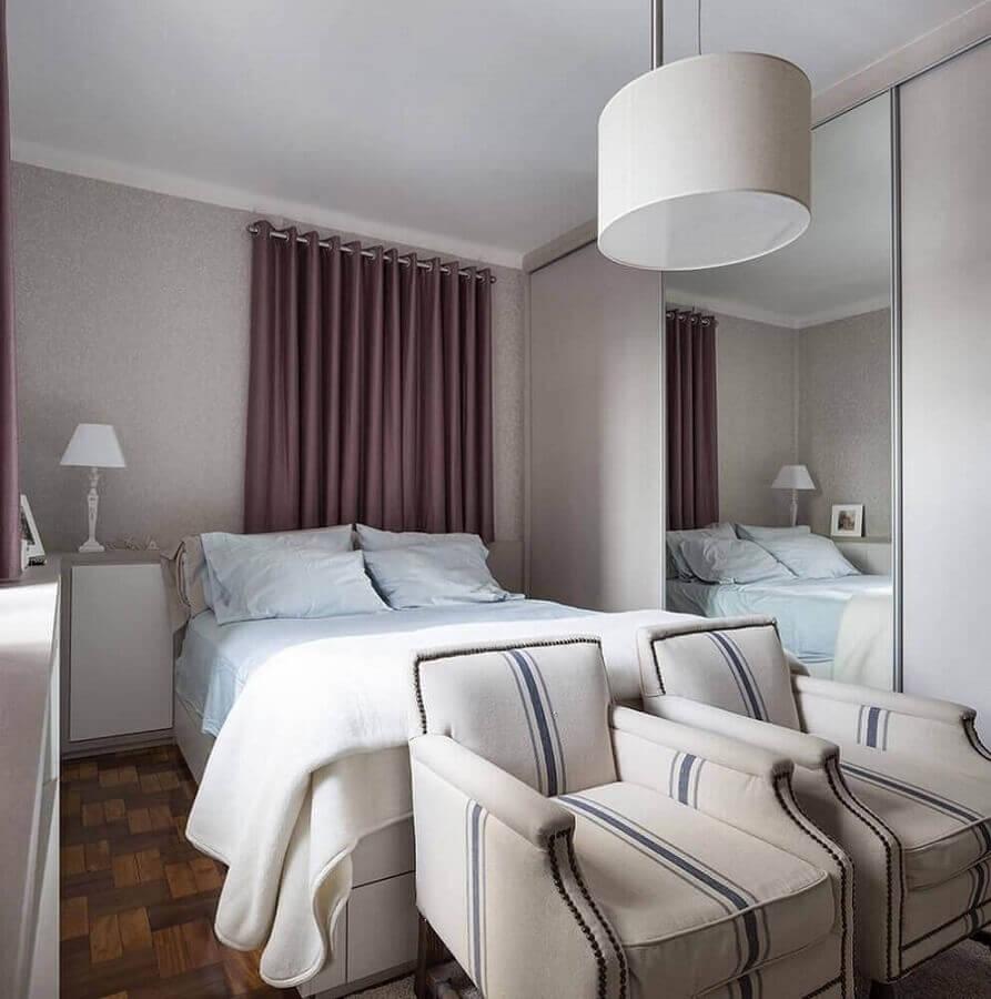 modelo simples de lustres para quarto de casal decorado