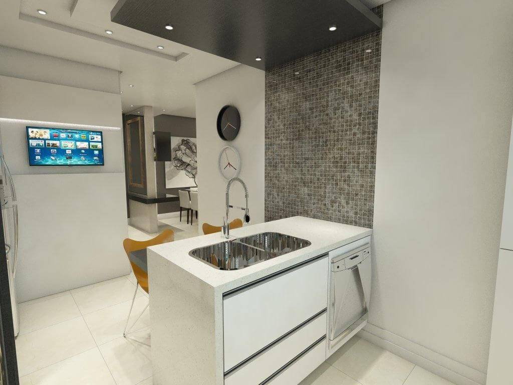 moveis planejados cozinha pequena bancada ednilson hinckel 40113