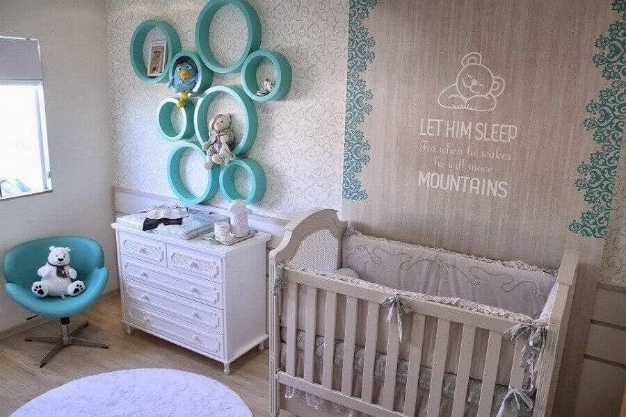 nicho redondo para quarto de bebê Foto Decor Salteado