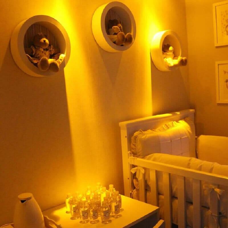 nicho redondo para quarto de bebê Foto Emeriele Laurido