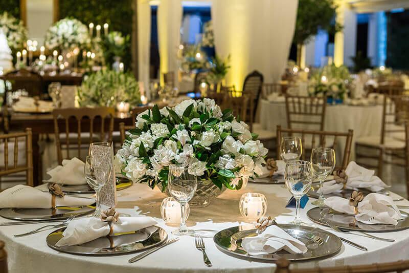 sofisticada decoração bodas de pérola  Foto Aceito Sim