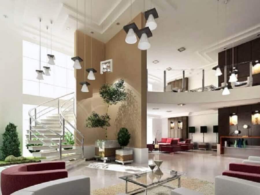 sofisticada decoração para casa com mezanino Foto Bela & Feliz