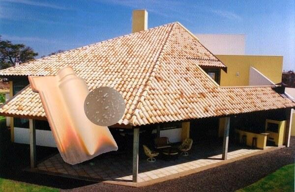 Telha portuguesa - telhado mesclado