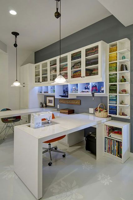 atelier de costura - ateliê com armários de tecidos