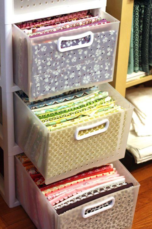 atelier de costura - gavetas de tecidos
