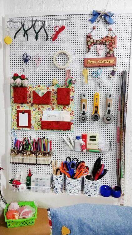 atelier de costura - painel de ferramentas de costura