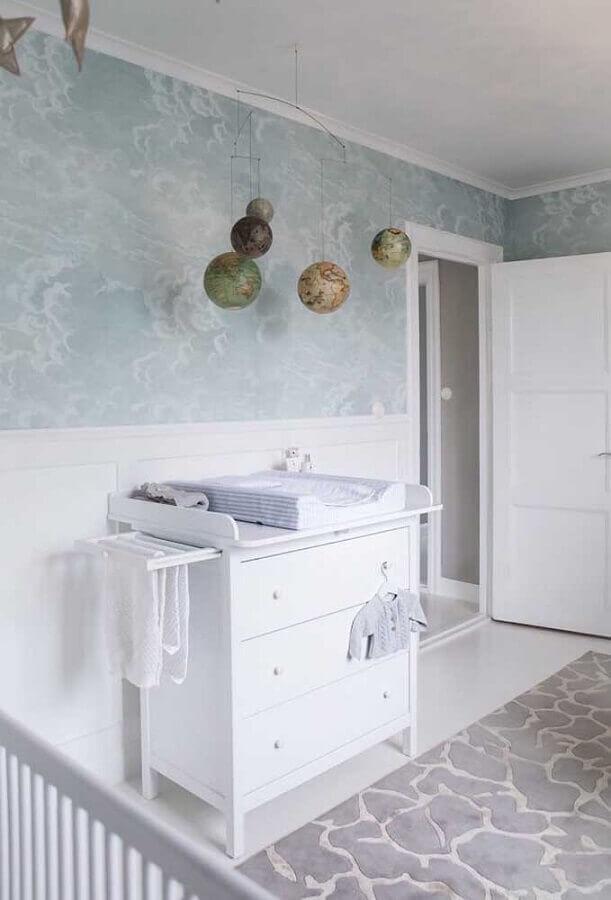 cômoda para quarto de bebê todo branco  Foto Pinterest