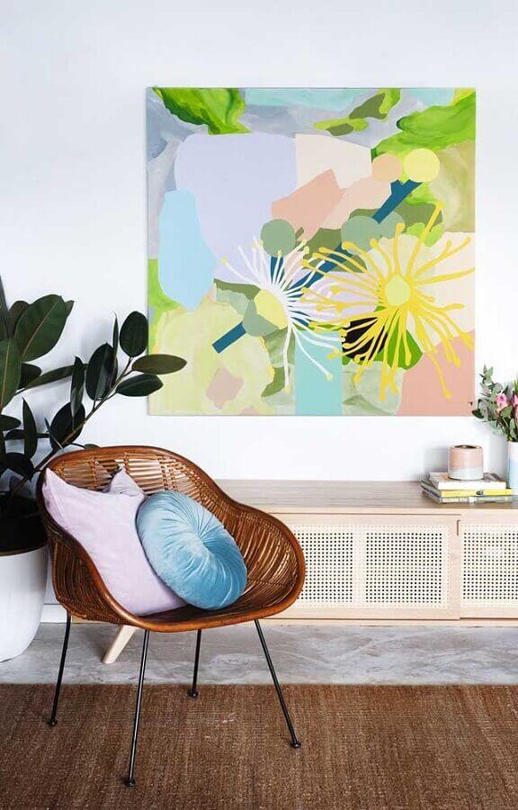 decoração delicada com quadro tumblr aquarela Foto Natalie McComas