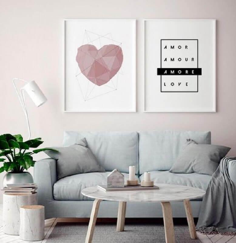 decoração delicada com quadros tumblr para sala de estar Foto DePoster