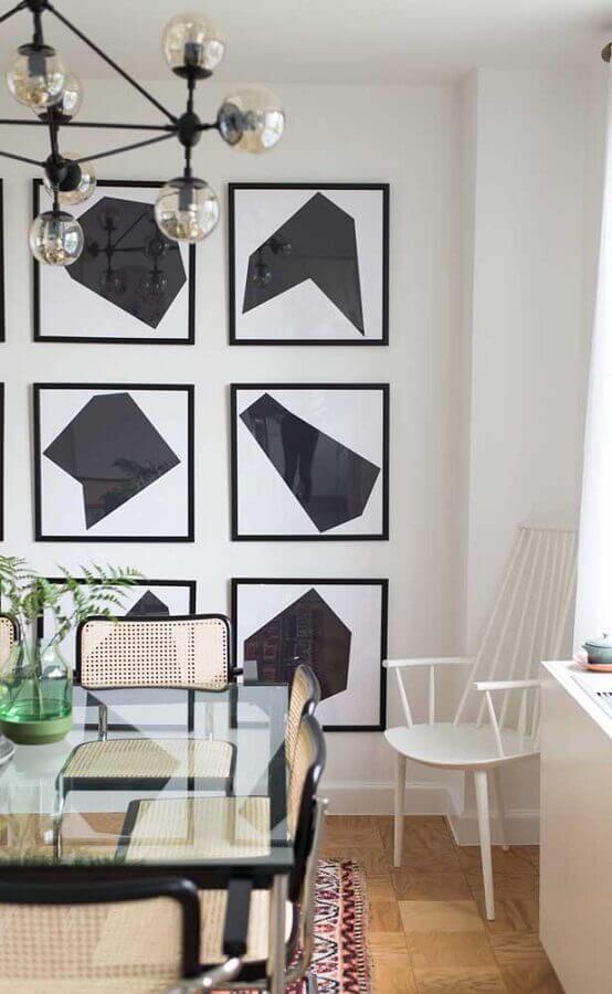 decoração sala de jantar com kit quadros tumblr Foto Behance