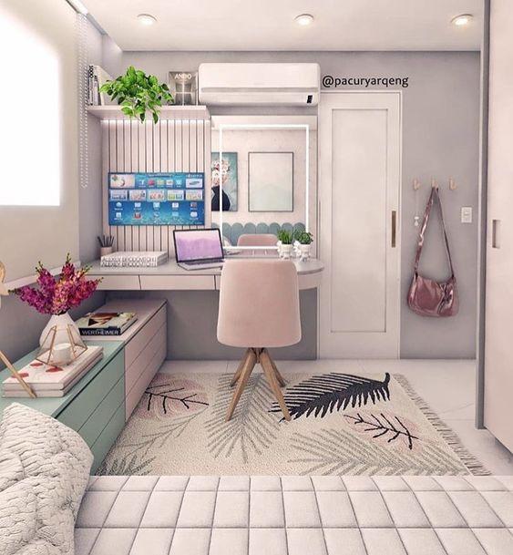 escrivaninha suspensa - escrivaninha com gavetas e painel para TV