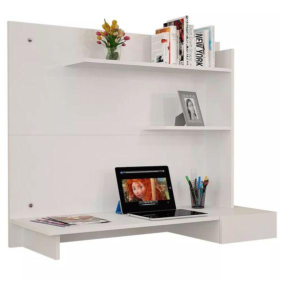 escrivaninha suspensa - escrivaninha com painel para tv