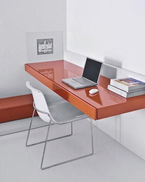escrivaninha suspensa - escrivaninha de madeira com revestimento de vidro