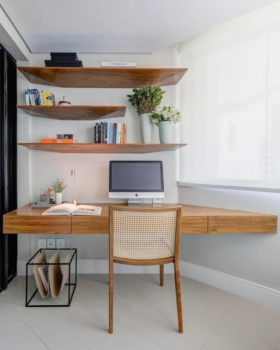 escrivaninha suspensa - escrivaninha de madeira de lei
