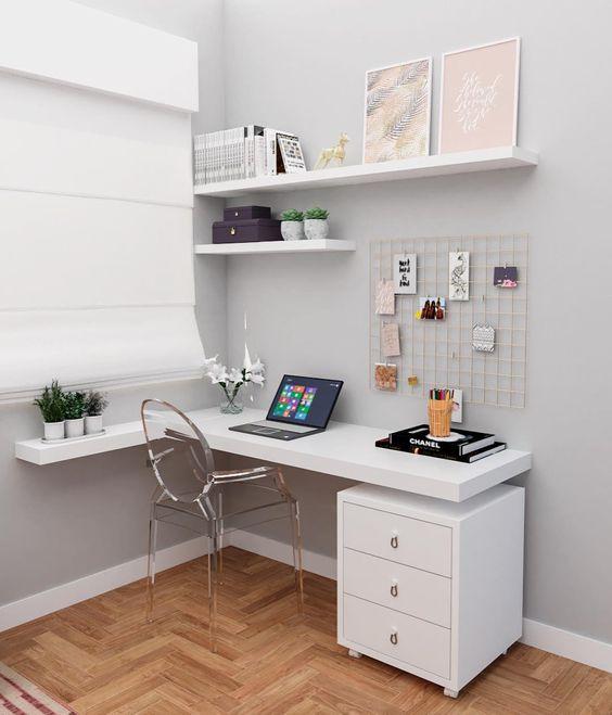 escrivaninha suspensa - escrivaninha suspensa branca