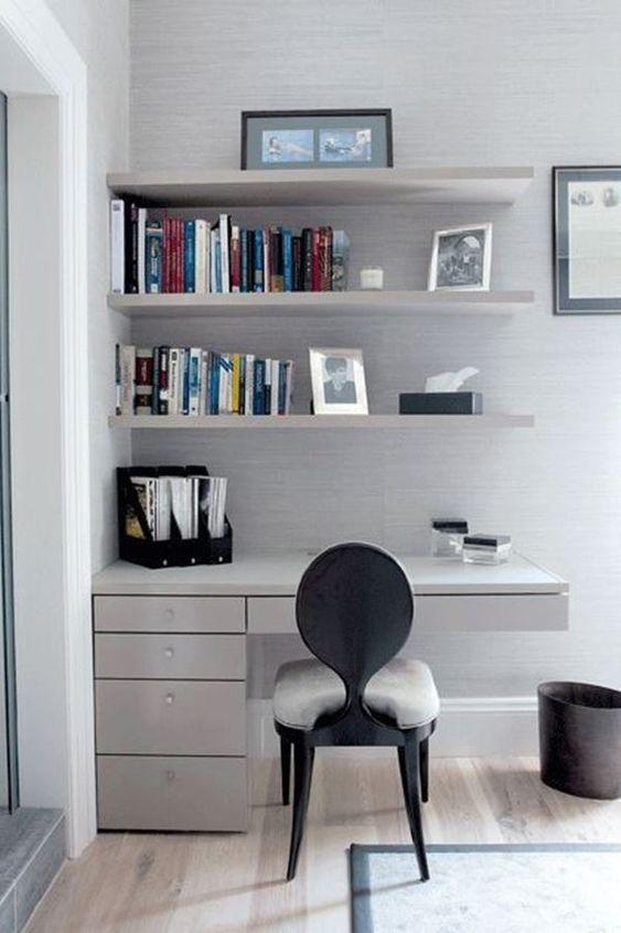 escrivaninha suspensa - escrivaninha suspensa com lateral com gavetas
