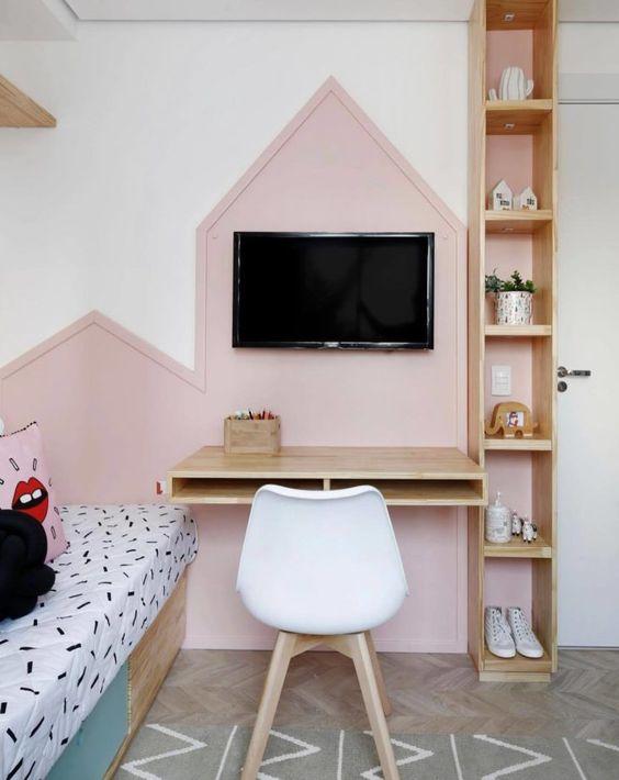 escrivaninha suspensa - escrivaninha suspensa de madeira