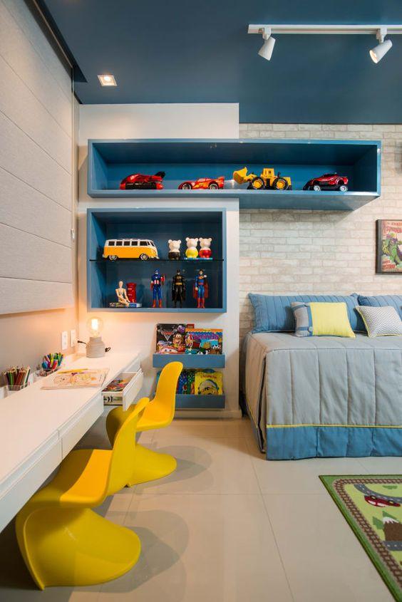 escrivaninha suspensa - escrivaninha suspensa em quarto infantil
